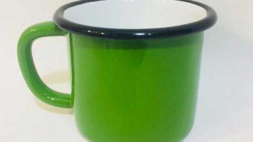 Emaye Büyük Kupa Çimen Yeşili