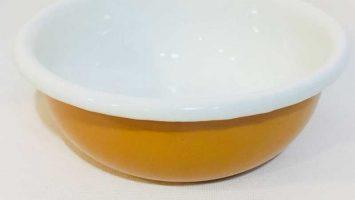 Emaye Renkli Kase 12 cm Oksit Sarı