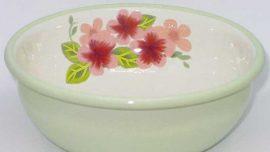 Latin Çiçeği Emaye Kase 14 cm