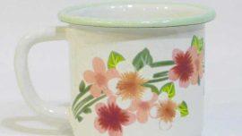 Latin Çiçeği Emaye Kupa 8.5 cm