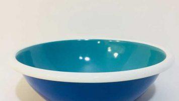 Porselen Emaye Kase 20 cm Lacivert