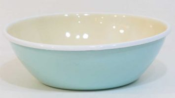Porselen Emaye Kase 20 cm Nil Mavisi