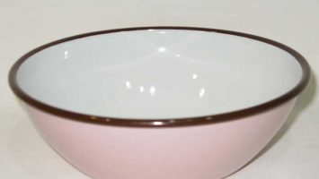 Porselen Emaye Kase 20 cm Pembe