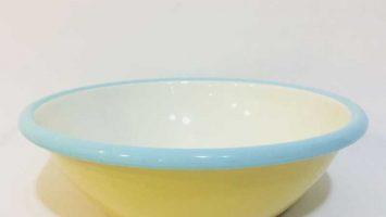 Porselen Emaye Kase 20 cm Sarı