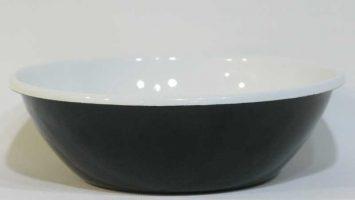 Porselen Emaye Kase 20 cm Siyah