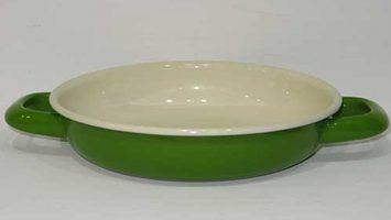 Renkli Emaye Sahan 18 cm Çimen Yeşil