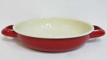 Renkli Emaye Sahan 18 cm Kırmızı