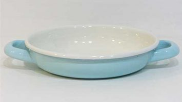 Renkli Emaye Sahan 18 cm Mint Mavi