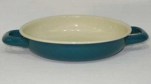 Renkli Emaye Sahan 18 cm Petrol Yeşili
