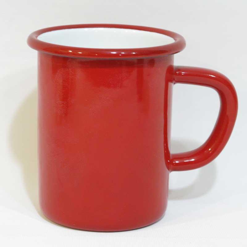 Emaye Çorba Kupası Kırmızı