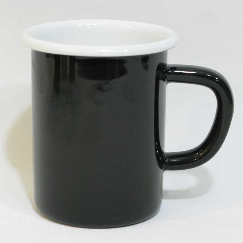Emaye Çorba Kupası Siyah