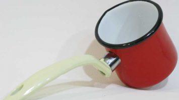Emaye Cezve Kırmızı 7 cm