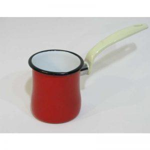Emaye Cezve Kırmızı 9 cm