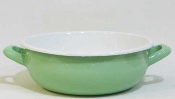 Emaye Kulplu Salata Kasesi Mint Yeşili