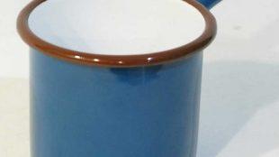 Emaye Metal Saplı Sütlük Petrol Yeşili