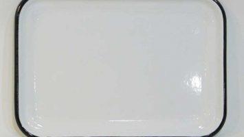 Emaye Sığ Servis Tepsisi 26 cm Siyah