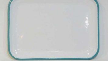 Emaye Sığ Servis Tepsisi 26 cm Turkuaz