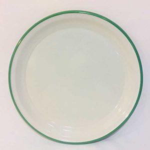 Emaye Sini 40 cm Yeşil Çizgili