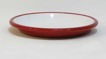 Emaye Tabak 20 cm Kırmızı