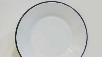 Emaye Tabak 21 cm Siyah