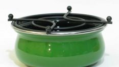Emaye Isıtıcı Asker Yeşili 13 cm